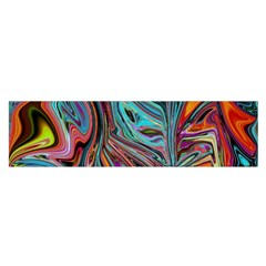 Brilliant Abstract In Blue, Orange, Purple, And Lime Green  Satin Scarf (oblong)
