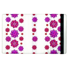 Vertical Stripes Floral Pattern Collage Apple Ipad 2 Flip Case