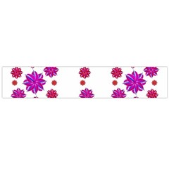Vertical Stripes Floral Pattern Collage Flano Scarf (Large)