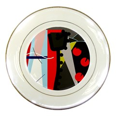 Looking forwerd Porcelain Plates
