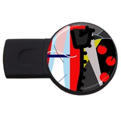 Looking forwerd USB Flash Drive Round (4 GB)