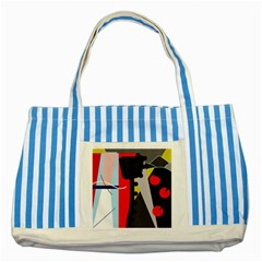 Looking forwerd Striped Blue Tote Bag