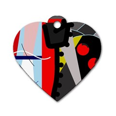 Looking forwerd Dog Tag Heart (Two Sides)