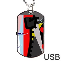 Looking forwerd Dog Tag USB Flash (One Side)
