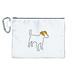Jack Russell Terrier Color Silo Canvas Cosmetic Bag (L)