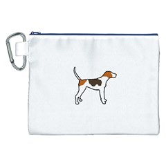 Treeing Walker Coonhound Silo Color Canvas Cosmetic Bag (XXL)