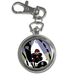 Black flower Key Chain Watches