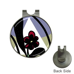Black flower Hat Clips with Golf Markers
