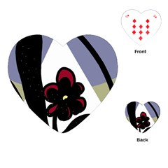 Black flower Playing Cards (Heart)