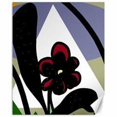 Black flower Canvas 16  x 20