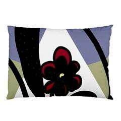Black flower Pillow Case