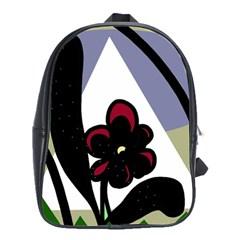 Black flower School Bags(Large)