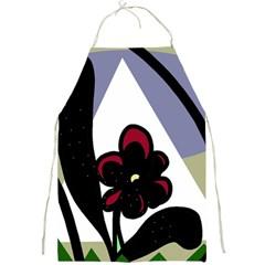Black flower Full Print Aprons