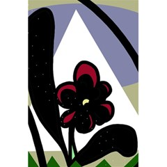 Black flower 5.5  x 8.5  Notebooks
