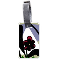 Black flower Luggage Tags (Two Sides)