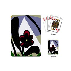 Black flower Playing Cards (Mini)