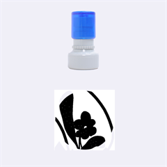 Black flower Rubber Round Stamps (Small)