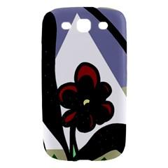 Black flower Samsung Galaxy S III Hardshell Case