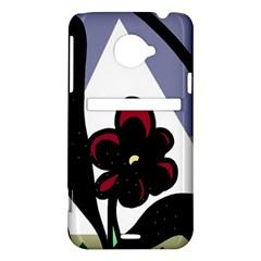 Black flower HTC Evo 4G LTE Hardshell Case