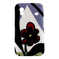 Black flower Samsung Galaxy Ace S5830 Hardshell Case