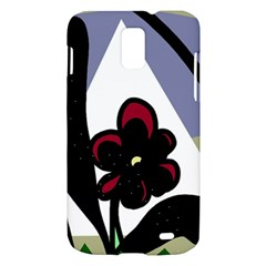 Black flower Samsung Galaxy S II Skyrocket Hardshell Case
