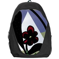Black flower Backpack Bag
