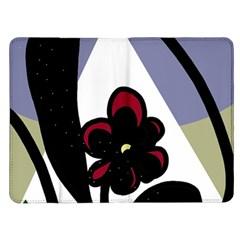 Black flower Kindle Fire (1st Gen) Flip Case