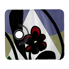 Black flower Samsung Galaxy S  III Flip 360 Case