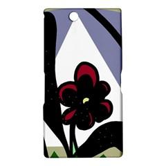 Black flower Sony Xperia Z Ultra