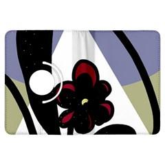 Black flower Kindle Fire HDX Flip 360 Case