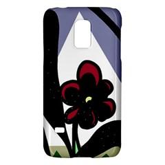 Black flower Galaxy S5 Mini