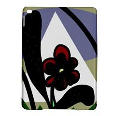 Black flower iPad Air 2 Hardshell Cases