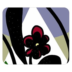Black flower Double Sided Flano Blanket (Small)