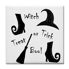 Halloween witch Tile Coasters