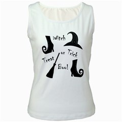 Halloween witch Women s White Tank Top
