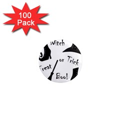 Halloween witch 1  Mini Magnets (100 pack)