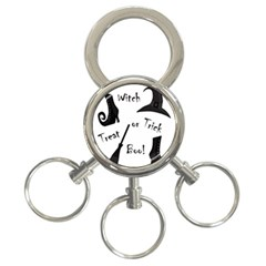 Halloween witch 3-Ring Key Chains