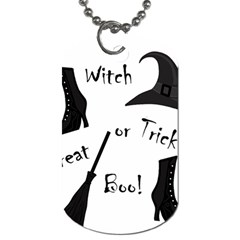 Halloween witch Dog Tag (One Side)