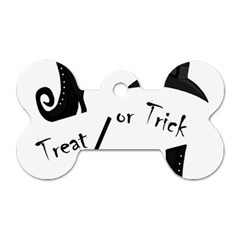 Halloween witch Dog Tag Bone (Two Sides)