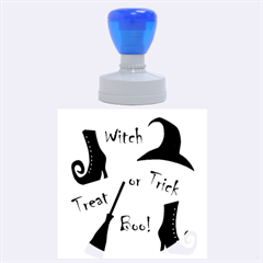 Halloween Witch Rubber Round Stamps (large)