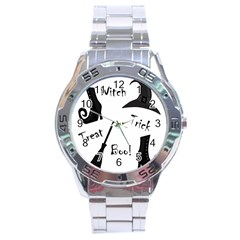 Halloween witch Stainless Steel Analogue Watch