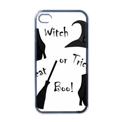 Halloween witch Apple iPhone 4 Case (Black)