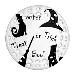 Halloween witch Ornament (Round Filigree)