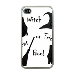 Halloween witch Apple iPhone 4 Case (Clear)