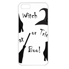 Halloween witch Apple iPhone 5 Seamless Case (White)