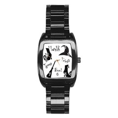 Halloween witch Stainless Steel Barrel Watch