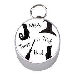 Halloween witch Mini Silver Compasses