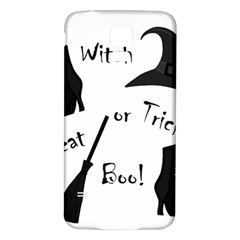 Halloween witch Samsung Galaxy S5 Back Case (White)