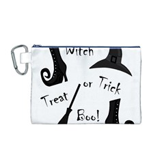 Halloween witch Canvas Cosmetic Bag (M)