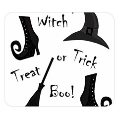 Halloween witch Double Sided Flano Blanket (Small)